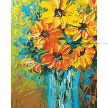 Garland chrysanthemum picture Diy painting by numbers hand painted canvas oil paintings living room wall canvas art decoration