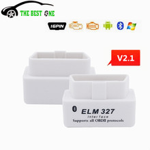Best Quality Super Mini V2.1 ELM327 OBD2 Interface ELM 327 OBDII Code Scanner Tool Support Multi-brands Works On Android/PC ELM