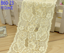 4 Meters Lovely Designed Bulk Lace Embroidery Stretch LaceTrim Ribbon Fabric DIY Crafts Sewing Suppies Wedding Garments