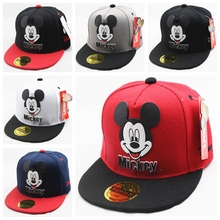 New Character Cartoon Children Kids Hip Hop Baseball Cap Summer Sun Hat Kids Boys Girls Mickey Flat Caps