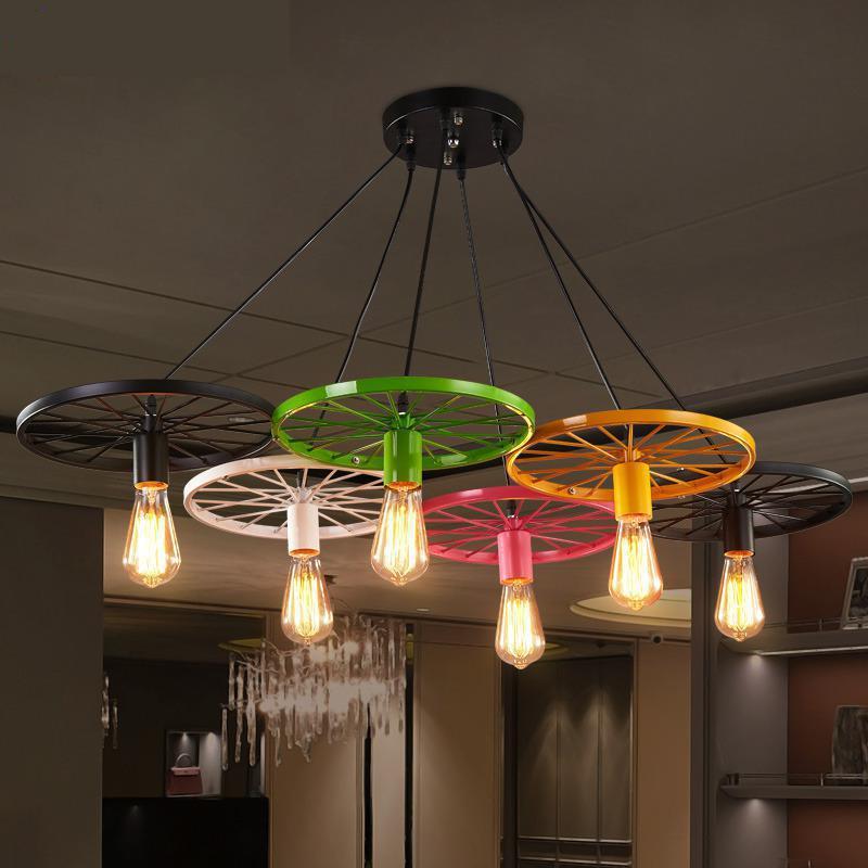 Luminaire Suspendu Loft E27 Pendant Light Antique Style 110v- 220v For Decor Lustre Pendente  Dining Room Lights Light Fixtures<br>