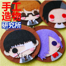 HOT Yourself Make Anime Tokyo Ghoul Cosplay Costume DIY toy Doll keychain Japan 4pcs Material anime stickers Make your own
