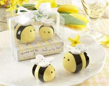 wedding favor Wholesale Mommy and Me Sweet as can Salt and pepper shaker Wedding favors 200pcs/lot(China)