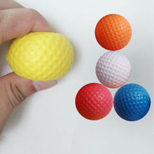 1 Pcs 5 Colors New Golf Ball Exercise Stress Relief Squeeze Elastic Soft Foam Ball Braces Supports(China)