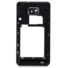 Black Middle Back Frame Plate Bezel Back Housing For Samsung Galaxy S2 i9100 Replacement