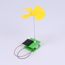 Kids Solar Toys Rotating Fan Electric Energy Generation Experiments Toy DIY Assembling Education Toy for Children