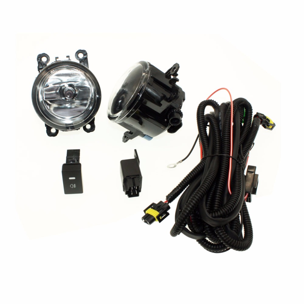 For MITSUBISHI L200 KB_T KA_  H11 Wiring Harness Sockets Wire Connector Switch + 2 Fog Lights DRL Front Bumper Halogen Car Lamp <br>