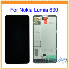 "4.5"" New For Nokia Lumia 630 LCD Screen Display + Touch Screen Digitizer Assembly with Frame Black + Tools"