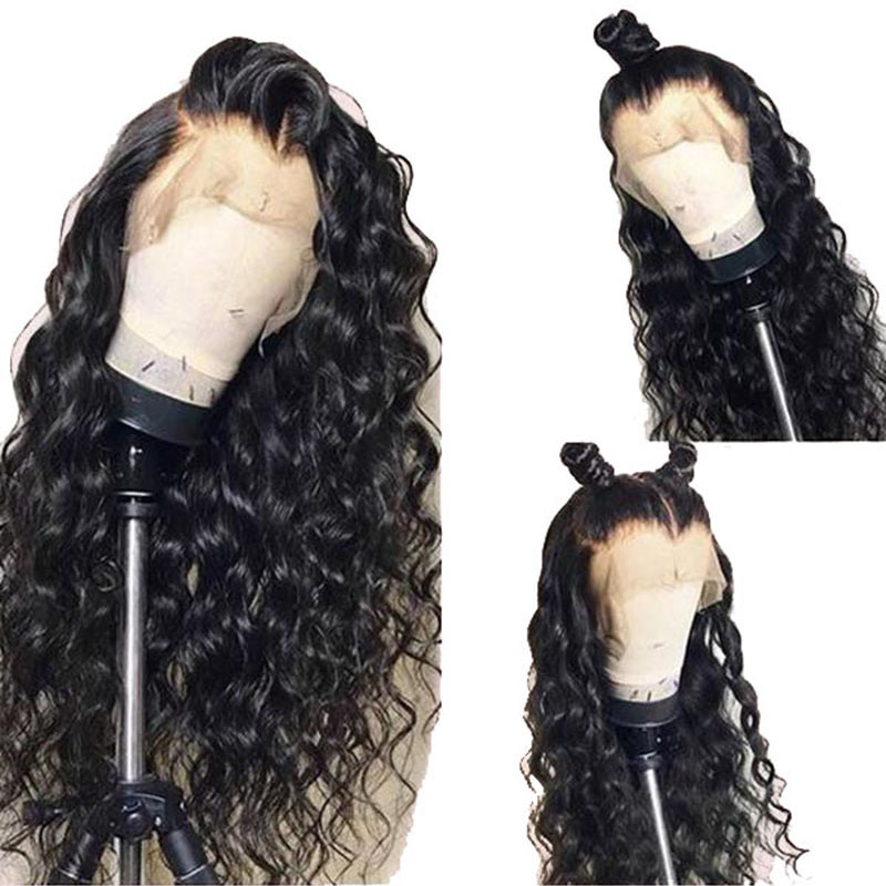 Hot Beauty Hair 360 Lace Frontal Wig Breathalbe Water Wave Wig Pre Pluck With Baby Hair Brazlian Remy 100% Human Hair Lace Wigs (4)1