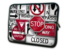 "Free shipping Traffic Sign 15"" Laptop Bag Case Cover For 15.6"" HP Pavilion,Dell In spiron,Acer Notebook"