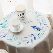 Free Shipping Flower Tablecloths New Thicker Wreath Cotton Linen Tablecloth Rectangular Round Table Cloth Unique Table cover