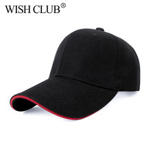 WISH CLUB brand cap baseball cap fitted hat Casual cap gorras hip hop snapback hats  for men women unisex 2017