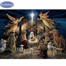 5D DIY Вышивка с кристаллами рождение Иисус Христос Кристалл площадь Алмазная мозаика домашние декоративные Полная diamond Вышивка(China)