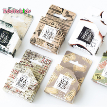New DIY Vintage Masking Washi Tapes Retro Life Decoration Adhesive Tapes Vintage Scrapbooking Planner Calendar Stickers Label(China)