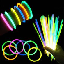 100Pcs Waterproof Safe Glow Stick Mixed Color Luminous Sticks Party Props Concert Celebrations Diy Glow Fluorescence Sticks 3(China)