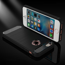 Phone Cases Cover For Apple iPhone 5 5S 5G 55S iPhone SE 6C iPhone55s Carbon Fiber Housing Bag Cover For Iphone 5s Brushed Case