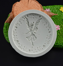 3D Flower Fairy Angel girl Fondant chocolate silicone molds cake decorating tools soap mould clay/rubber cake pop recipe H422(China)