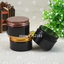 30 grams brown PET Jar,With Black/bronze/gold Aluminum Lid,Cream Container PET Jar Cosmetic Packaging For skin care products pa(China)