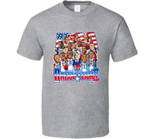 Dream Team 2 USA Basketballer T Shirt Cotton Low Price Top Tee for Teen Boys Popular Style Man T-Shirt Top Tee Plus Size