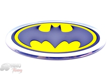Rhino Tuning 1PC Batman Logo Badge Sticker Auto Side Panel Aluminum Car Badge Sticker for All Car Yellow &Black 608
