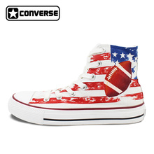 Men Women Converse Chuck Taylor Rugby Original Design Hand Painted Shoes Man Woman High Top Canvas Sneakers Birthday Gifts(China)