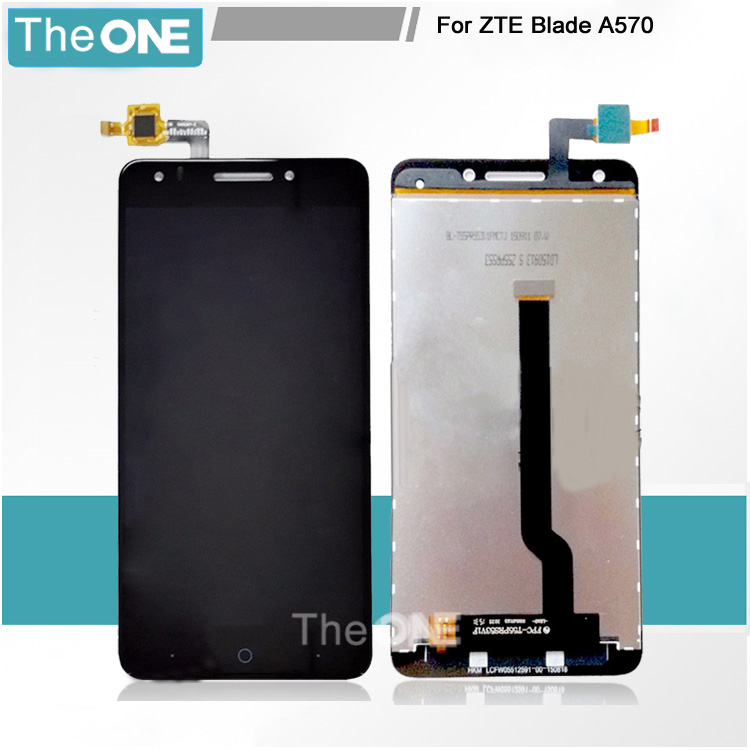 Free DHL LCD Display Black For ZTE Blade A570 lcd with Touch Digitizer Panel Assembly Replacement <br><br>Aliexpress