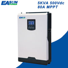 EASUN POWER Solar Inverter 500Vdc 4000W 80A MPPT 48V 220V Off Grid Inverter 5Kva Pure Sine Wave Inverter 60A Battery Charger(China)
