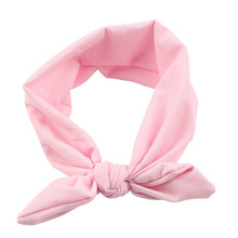 Fashion   Kids Girls Rabbit Bow Ear Hairband candy color cute Headband Turban Knot Head Wraps hair accessories TONSEE #28