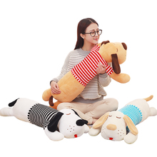70 or 90cm Staffed Soft Plush Toy Giant Lies Prone Dog Doll Cute Pillow Creative Dolls Kids Toys Birthday Gift(China)