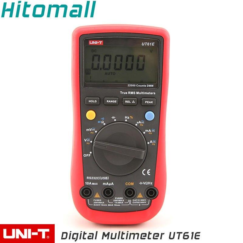 True RMS Professional Auto Range 22000 Counts 10A 1000V Resistance Capacitance Frequency UNI-T Digital Multimeter UT61E<br><br>Aliexpress