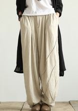 In the autumn of 2016 new products to market, the original design loose big yards wide leg pants cotton linen leisure women