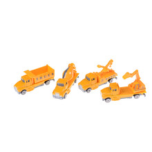 1:60 Mini Alloy 4 Types Diecast Construction Vehicle Engineering Car Dump-car Dump Truck Model Classic Toy Gift For Boy(China)