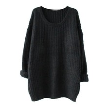 Autumn Mixed Color Wool Women's dress Comfort Knitted Pullover Sweater Fashion O-Neck Long Sleeve Jumper Top
