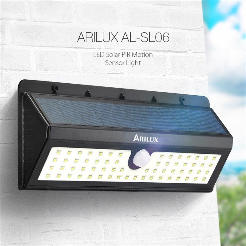 ARILUX AL-SL06 800LM Solar 62 LED PIR Human Body Motion Sensor Wall Light Outdoor Garden Light Waterproof IP65 Emergency Lamp 8W<br><br>Aliexpress