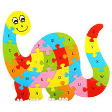Kids Baby Wooden Animal Puzzle Numbers Alphabet Jigsaw Learning Educational Toy(China)