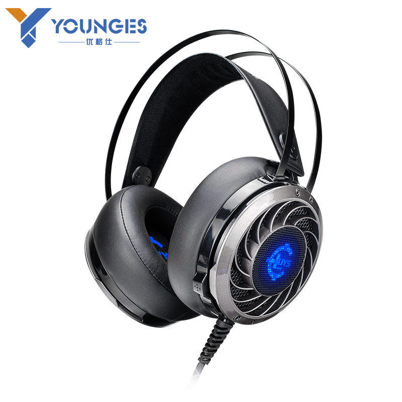 HOT YOUNGES Brand headphones Genuine professional gaming headset Audio and video headphones Glowing headphones With a microph<br><br>Aliexpress