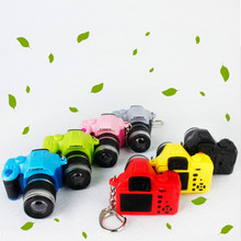 The simulation of metal keychain SLR camera LED light key chains sound package ornaments free shipping 032