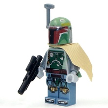 2PG44 Building Blocks Boba Fett Bounty Hunter Mandalorian Pre Vizsla Star Wars Bricks Action Figures Toys Children Gift - Minifigures store