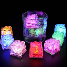 12pcs LED Ice Cubes Luminous parties and events party luminous party decoration supplies Wedding led lights decoration battery
