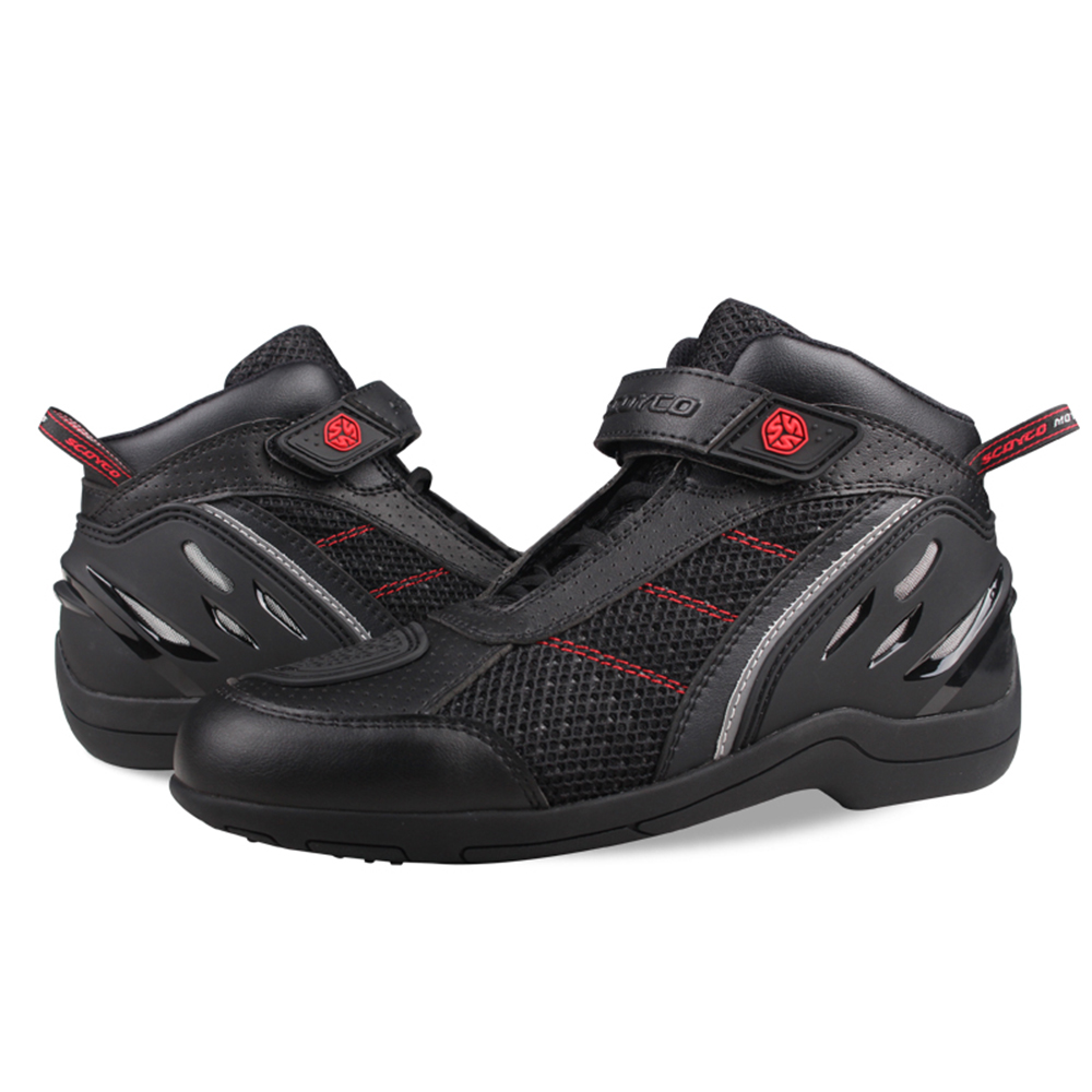 SCOYCO-Motorcycle-Boots-Men-Breathable-Motocross-Off-Road-Racing-Boots-Leather-Moto-Boots-Motorbike-Riding-Protective