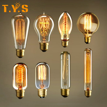 Buy Edison Incandescent Light Bulb Retro Vintage Lamp Bulb E27 Dimmable 40W decorative filament bulbs for $2.00 in AliExpress store