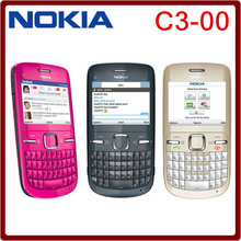 C3 Original Nokia C3-00 WIFI 2MP Bluetooth Jave Unlock Cell Phone freeshipping one year warranty