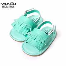 stylish pu leather tassel baby moccasins tassel girls baby shoes Scarpe Neonata hook and loop outdoor shoes hard rubber bottom(China)