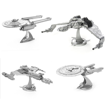 2016 New Star Trek 3D Metal Puzzles Assemble DIY Starship Enterprises 1701 /Bird Of Prey/ Kerrigan No. Model Toys Gift