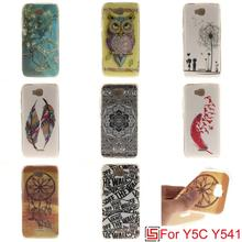 Cheap Art Ultra Thin TPU Silicone Soft Phone Case capinha fundas Cover For Huawei Huwawei Hauwei Ascend Y5C Y541 U02 Owl Tiger