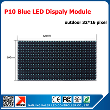 TEEHO P10 LED Module outdoor blue for outdoor led sign led screen electronic message centers, LED Displays 32*16 pixels(China)