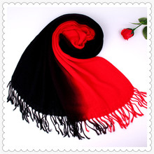 Visual Axles 2017 New Gradient Pashmina Para Mujer Women Wedding Accessories Luxury Brand Soft Cashmere Shawls Hijab Pashminas