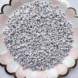 200 шт., акриловые бусины для бижутерии, 7 мм