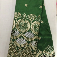 George-Fabric Embroidery Indian Best-Price African Clothing Beautiful Sequins Green