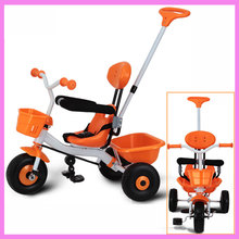 2 in 1 Baby Kids Tricycle Stroller Bike for Children Tricycle Pram Buggy Cart Bicycle Trolley 2 Y~6 Y